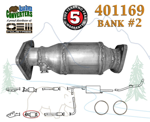 401169 Direct Fit Catalytic Converter Bank 2 for PO430 Frontier Pathfinder Xterra 4.0L