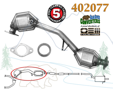 402077 Direct Fit Catalytic Converter Subaru Forester Impreza Legacy Outback 2.5