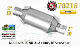 "70216 Eastern Universal Catalytic Converter Standard Catalyst 2"" Pipe 10"" Body - Bear River Converters"