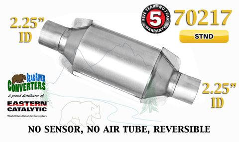 "70217 Eastern Universal Catalytic Converter Standard 2.25"" 2 1/4"" Pipe 10"" Body - Bear River Converters"