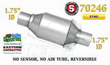 "70246 Eastern Universal Catalytic Converter Standard 1.75"" 1 3/4"" Pipe 8"" Body - Bear River Converters"