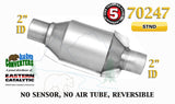 "70247 Eastern Universal Catalytic Converter Standard Catalyst 2"" Pipe 8"" Body - Bear River Converters"