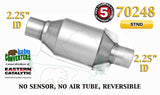 "70248 Eastern Universal Catalytic Converter Standard 2.25"" 2 1/4"" Pipe 8"" Body - Bear River Converters"