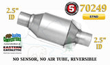 "70249 Eastern Universal Catalytic Converter Standard 2.5"" 2 1/2"" Pipe 8"" Body - Bear River Converters"