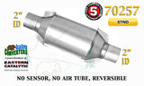 "70257 Eastern Universal Catalytic Converter Standard Catalyst 2"" Pipe 10"" Body - Bear River Converters"