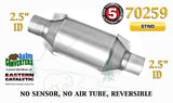 "70259 Eastern Universal Catalytic Converter Standard 2.5"" 2 1/2"" Pipe 10"" Body - Bear River Converters"