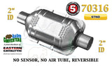"70316 Eastern Universal Catalytic Converter Standard Catalyst 2"" Pipe 10"" Body - Bear River Converters"