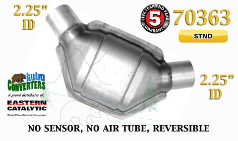 "70363 Eastern Universal Catalytic Converter Standard 2.25"" 2 1/4"" Pipe 8"" Body - Bear River Converters"