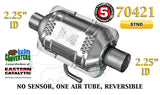 "70421 Eastern Universal Catalytic Converter Standard 2.25"" 2 1/4"" Pipe 10"" Body - Bear River Converters"