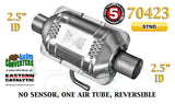 "70423 Eastern Universal Catalytic Converter Standard 2.5"" 2 1/2"" Pipe 10"" Body - Bear River Converters"