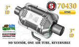 "70430 Eastern Universal Catalytic Converter Standard Catalyst 3"" Pipe 10"" Body - Bear River Converters"