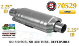 "70529 Eastern Universal Catalytic Converter Standard 2.25"" 2 1/4"" Pipe 14"" Body - Bear River Converters"