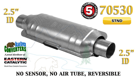 "70530 Eastern Universal Catalytic Converter Standard 2.5"" 2 1/2"" Pipe 14"" Body - Bear River Converters"