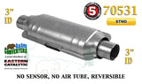 "70531 Eastern Universal Catalytic Converter Standard Catalyst 3"" Pipe 14"" Body - Bear River Converters"