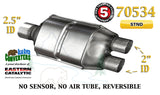 "70534 Eastern Universal Catalytic Converter 2.5"" Single / 2"" Dual Pipe 12"" Body - Bear River Converters"