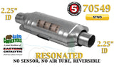 "70549 Eastern Universal Catalytic Converter Resonated 2.25"" 2 1/4"" Pipe 14"" Body - Bear River Converters"