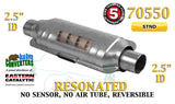 "70550 Eastern Universal Catalytic Converter Resonated 2.5"" 2 1/2"" Pipe 14"" Body - Bear River Converters"