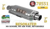 "70551 Eastern Universal Catalytic Converter Resonated Standard 3"" Pipe 14"" Body - Bear River Converters"