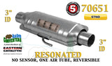 "70651 Eastern Universal Catalytic Converter Resonated Standard 3"" Pipe 14"" Body - Bear River Converters"