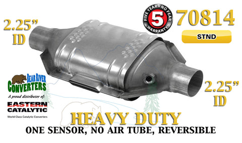 "70814 Eastern Catalytic Converter Heavy Duty 2.25"" 2 1/4"" Pipe 12"" Body - Bear River Converters"