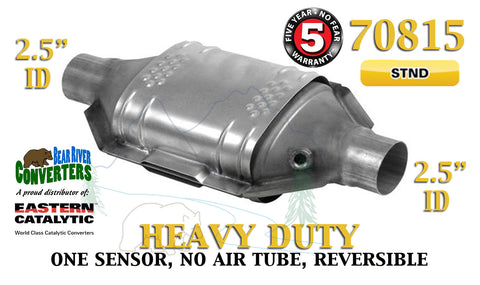 "70815 Eastern Universal Catalytic Converter Heavy Duty 2.5"" 2 1/2"" Pipe 12"" Body - Bear River Converters"