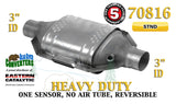 "70816 Eastern Universal Catalytic Converter Heavy Duty Catalyst 3"" Pipe 12"" Body - Bear River Converters"