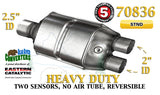 "70836 Eastern Catalytic Converter Heavy Duty 2.5"" Single / 2"" Dual Pipe 13"" Body - Bear River Converters"