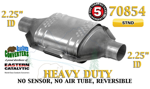 "70854 Eastern Catalytic Converter Heavy Duty 2.25"" 2 1/4"" Pipe 12"" Body - Bear River Converters"