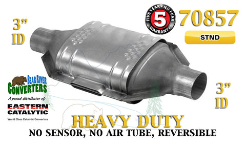 "70857 Eastern Universal Catalytic Converter Heavy Duty Catalyst 3"" Pipe 12"" Body - Bear River Converters"