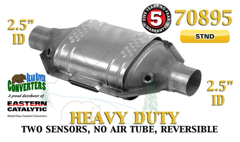 "70895 Eastern Universal Catalytic Converter Heavy Duty 2.5"" 2 1/2"" Pipe 12"" Body - Bear River Converters"