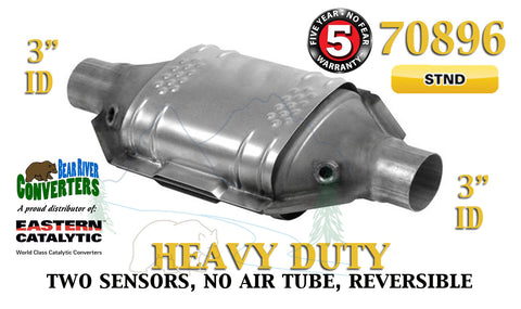 "70896 Eastern Universal Catalytic Converter Heavy Duty Catalyst 3"" Pipe 12"" Body - Bear River Converters"