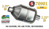 "70901 Eastern Universal Catalytic Converter Standard 2.25"" Pipe 12.5"" Body - Bear River Converters"