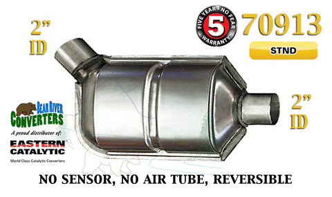 "70913 Eastern Universal Catalytic Converter Standard Catalyst 2"" Pipe 12"" Body - Bear River Converters"