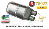 "70922 Eastern Universal Catalytic Converter Standard 2.25"" Dual Pipe 12.5"" Body - Bear River Converters"