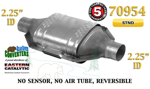 "70954 Eastern Universal Catalytic Converter Standard 2.25"" 2 1/4"" Pipe 12"" Body - Bear River Converters"