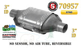 "70957 Eastern Universal Catalytic Converter Standard Catalyst 3"" Pipe 12"" Body - Bear River Converters"