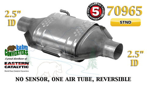 "70965 Eastern Universal Catalytic Converter Standard 2.5"" 2 1/2"" Pipe 12"" Body - Bear River Converters"