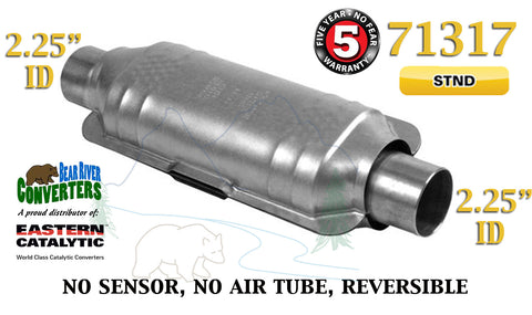 "71317 Eastern Universal Catalytic Converter Standard 2.25"" 2 1/4"" Pipe 12"" Body - Bear River Converters"