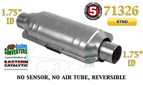 "71326 Eastern Universal Catalytic Converter Standard 1.75"" 1 3/4"" Pipe 12"" Body - Bear River Converters"