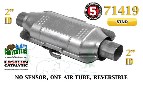 "71419 Eastern Universal Catalytic Converter Standard Catalyst 2"" Pipe 12"" Body - Bear River Converters"