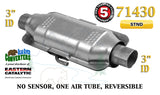 "71430 Eastern Universal Catalytic Converter Standard Catalyst 3"" Pipe 12"" Body - Bear River Converters"