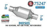 "Eastern 75247 Universal Catalytic Converter Diesel Catalyst 2"" Pipe 8"" Body"