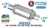 "75256 Eastern Universal Catalytic Converter Diesel 1.75"" 1 3/4"" Pipe 10"" Body - Bear River Converters"