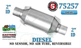 "Eastern 75257 Universal Catalytic Converter Diesel Catalyst 2"" Pipe 10"" Body"