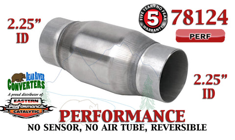 "78124 Eastern Universal Catalytic Converter Performance 2.25"" Pipe 4.75"" Body - Bear River Converters"
