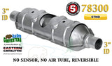 "Eastern Universal Catalytic Converter Torpedo Standard 3"" Pipe 23"" Body 78300"