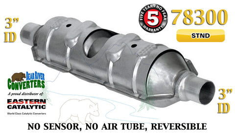 "78300 Eastern Universal Catalytic Converter Torpedo Standard 3"" Pipe 23"" Body - Bear River Converters"