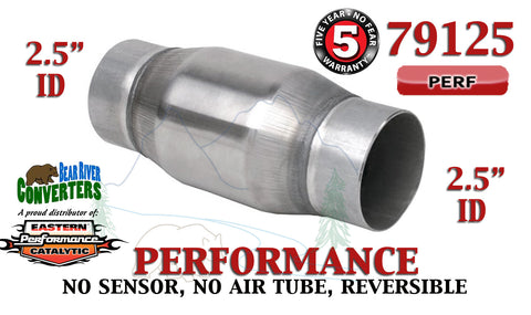 "79125 Eastern Universal Catalytic Converter Performance 2.5"" Pipe 4.75"" Body - Bear River Converters"