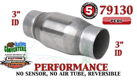 "79130 Eastern Universal Catalytic Converter Performance 3"" Pipe 4.75"" Body - Bear River Converters"