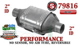 "Eastern 79816 Performance Universal Catalytic Converter 2"" Pipe 12"" Body"